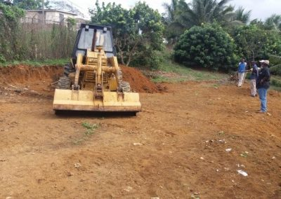Tractor working on site preparation
